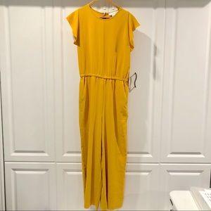 Rachel Zoe | Marigold Yellow Short Sleeve Jumpsuit